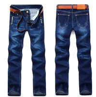 Wholesale winter and autumn men elastic pencil jeans youth long trousers