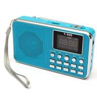 Wholesale Universal Home Stereo Speaker Mini Portable Radio TF Card Speaker FM Radio Digital Speaker with LED Screen