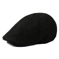 Wholesale DSGS NEW STYLE Solid Fluid Systems Gatsby Cap Ivy Hat Golf Driving Summer Sun Flat Cabbie sboy Black