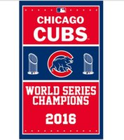 Wholesale 2016 world series champions Chicago Cubs flag ftx5ft with metal Grommets