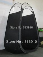 Wholesale Black color Spray Tanning tent with plastic window top in top quality popular in European American market