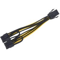 al por mayor x placa base-Molex PCI Express de 6 clavijas a 2 x PCIe 8 (6 + 2) pin Tarjeta Placa Gráfica Tarjeta de Video PCI-e CPU VGA Splitter Hub Cable de Alimentación