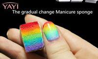 Wholesale 8PCS Set Beauty Gril Gradual Magic Nail Art Sponge Change Stamp Polish Stamping Manicure Tool Accessories Manicure Sponge