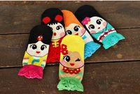 100% Cotton adult animal slippers - Cartoon dimensional mermaid princess cotton socks Adult socks Spring autumn loose belt baby new style socks L56