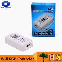 Vente en gros-DC12-24V WIFI LED contrôleur pour RGB LED Strip Smart RGB contrôleur utilisation intelligente pour Android ios iPod