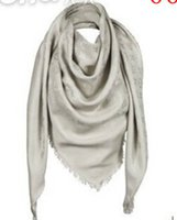 Wholesale 65 CACHEMIRE WOOL WOMENS FOREIGN TRADE SCARF WOMEN S SHAWL SCARF WRAPS CASHMERE SCARVES BLACK WINTER WARM SHAWLS FASHION WCARF SILVER