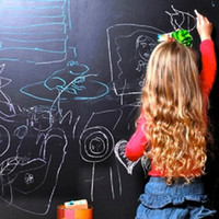 Wholesale QT Vinyl Chalkboard Wall Stickers Removable Waterproof Blackboard Decals Great Gift for Kids CMx200CM with Free Chalks