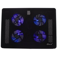 additional usb - IDock Laptop Cooling Pad Big Airflow Cooling Fan Mental Mesh Material Additional Device USB NC4