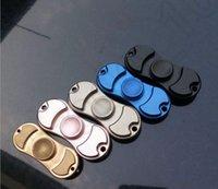 Wholesale HandSpinner Fingertips Spiral Fingers Gyro Hand Spinner Torqbar Brass Aluminum Toys Bearing Fidget Popular Toys OOA1200