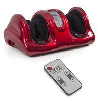 Wholesale Shiatsu Foot Massager Kneading and Rolling Leg Calf Ankle w Remote Red