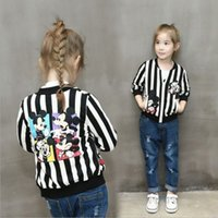 Wholesale Fashion New Baby Girls Kids Stripe Outerwear Jacket Zipper Cardigan Coat