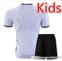 Wholesale kids Germny footbll shirts home wy grey soccer uniforms kit OZIL REUS MULLER SCHWEINSTEIGER lemnh child shirts sets free shippi A
