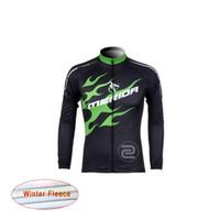 Compra Ciclismo camisa de mérida-Nuevo merida Ciclismo Ropa Hombres Ciclismo Termal Fleece jersey camisa de manga larga bicicleta mtb maillot Ciclismo Bicicleta Ropa D1125