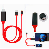 Wholesale Dock to HDMI HDTV AV TV Cable USB Cable P Adapter for iPhone5 s s plus splus7 plus ipad air M cable