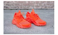 Wholesale Air Huarache Run Ultra Lightweight Orange Huaraches IV Shoes Men Women Sneakers Running Shoes Size With Box Outdoor Boost