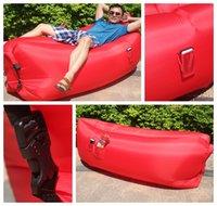 Wholesale Lamzac Hangout Beanbag Fast Inflatable Camping Air Sofa lazy bed Sleeping lay bag banana Nylon Lounge Lounger Chair Mattress laybag Kasir
