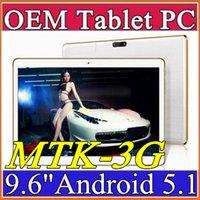Oem téléphone tablette android Avis-Écran d'IPS de l'écran 800 * 1280 GPS 3G de la tablette 1GB 16GB 5mp IPS d'écran d'OEM de l'arrivée d'OEM 9.6 pouces MTK8382 MTK6592 Quad Core Android Tablets E-9PB