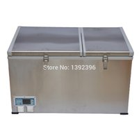 Wholesale L outdoor compressor refrigerator freezer dc v or v fridge with double door different refrigeration systems