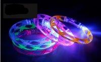Wholesale 2016 Kids LED toys Flashing Acrylic Bracelet Light Up Wristband Luminous Toys Multi Color party festival decoration FG003