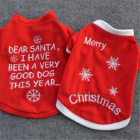 Wholesale New Dog Apparel Christmas Big Dot Flower Dogs Santa Claus Apparel Gift AA SO