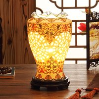 Wholesale Classic ceramic bedroom sweet lamp ceramic two colors drop shipping
