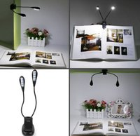 ac stands - Rechargeable Desk Lamp Table Lights LED Portable Music Stand Lights Dual Head Level Brightness AC Adapter and USB Cord Included