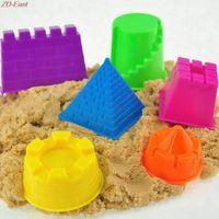baby pyramid - Set Castle Sand Clay Mold Building Pyramid Sandcastle Beach Sand Toy Baby Child Kid Model Building Kits