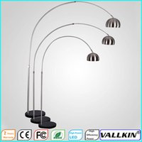 bedside floor lamp - Italy Modern Fishing Floor Light LED Floor Lamp Lighting Fixtures AC110 V Living Room Bedroom Bedside Natural Marble AND Stainless Steel