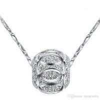 Wholesale Lucky Ball Pendant Top Quality Vintage Round Silver Plated Stainless Steel Pendant Necklace Jewelry