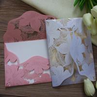 Wholesale Laser Cut Wed Invitation Rustic Marriage Invitation Cards luxury wedding paper card valentine postcard