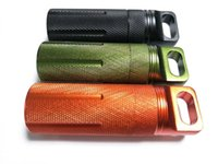 Wholesale Outdoor survival tool sealed waterproof mini metal storage container camping hiking travel first aid pill medicine case