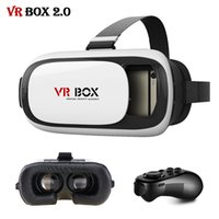 Wholesale VR BOX ii Pro Virtual Reality D Glasses Headset vrbox cardboard Helmet For Mobile Phone Remote Controller