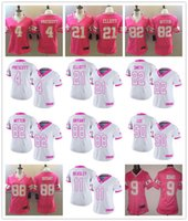 Wholesale Limited Cowboys New Women s Dallas Ezekiel Elliott Jason Witten Dak Prescott Dez Bryant Jersey Pink Stitched Footbal rugby Jersey