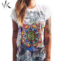 Wholesale S XXL Plus Size Graphic Tees Women T Shirt Hip Hop Feminino Punk Rock Shirt Print Top Women tshirts Cotton Summer