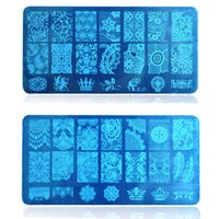beauty salon decor - Salon Beauty Lace Image Nail Art Sexy Decor Stencils for Nail Stamping Plates Manicure Polish Transfer Templates BC01