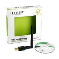 al por mayor antenas de alta ganancia wifi usb-EDUP EP-MS1559 Adaptador Wifi 300Mbps Wi-Fi Dongle 2.4GHz Realtek8192CU Adaptadores USB inalámbricos con alta ganancia 2dbi Antena