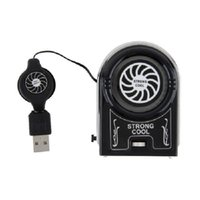 Wholesale Mini Vacuum USB Cooler Air Extracting Cooling Fan for Notebook Laptop Computer Peripherals Black