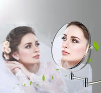 Wholesale BAKALA Dual Makeup mirrors and magnifier Copper Cosmetic Bathroom Double Faced Bath Mirror wall mirror BR