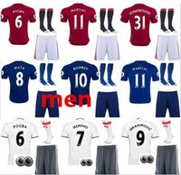 Wholesale 2016 Rooney Soccer Jersey Zlantan Ibrahimovic Jersey kit Paul Pogba Mkhitaryan Football Shirt Martial Camiseta de untied Maillot
