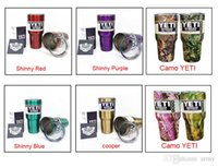 Wholesale 2017 hot popular Yeti oz oz oz with Clear LidRambler Tumbler Bilayer Stainless Steel Insulation Cup OZ Cups Cars Beer Mug