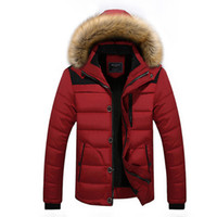 Wholesale Brand Men Winter Jackets Coats Warm Down Jacket Outdoor Hooded Fur Mens Thick Faux Fur Inner Parkas Plus Size