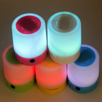 Wholesale 2016 new led Mini Portable speaker arrival micro usb mini stereo super bass mp3 Music player without accessories color
