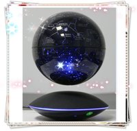 Wholesale 2 dhl free new maglev flaoting bottom starry globe with light induction desk toy gift