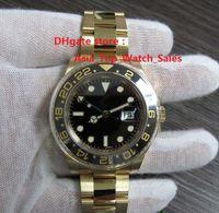 Reloj de alta calidad de lujo Asia 2813 Movimiento mecánico 40MM bisel de cerámica negro GMT 116718 16718 Relojes de pulsera automático