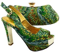 Wholesale 2016 new arrival fashion Italian shoes with matching bags set for wedding and party African shoes and bag sets VL1
