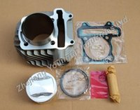air cylinder bore - 180cc mm big bore cylinder kit w V Valve piston RIK ring for Scooter ATV QMI QMJ GY6 GY6 GP110