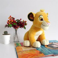 0-12 Months Unisex as pic Wholesale- 2016 New Movie Cartoon Plush Toys The Lion King Figures Simba Soft Stuffed Doll Kids Baby Children Kawaii Gift 26cm