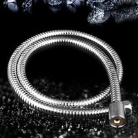 Wholesale 2m Stainless Steel Flexible Chrome Shower Hose Bathroom Heater Water Head Pipe For Bath Accessories