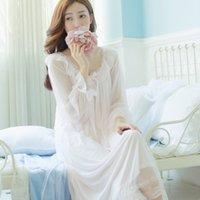 beautiful nightgowns - 2016 retro palace Ting Leisi long sleeved dress sexy sleepwear beautiful goddess
