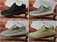 Cheap With Box 2017 Adidas Yeezy 350 Boots Men Women Running Shoes Fashion Yeezys 350 Jogging Shoes Oxford Tan Portable Sneakers Free Shipping
